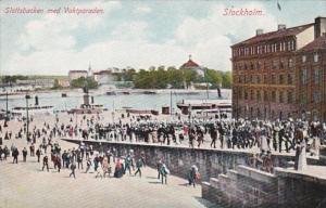 Sweden Stockholm Slottsbacken med Vaktparaden
