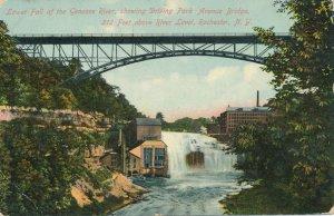 Lower Falls Genesee River at Driving Park Avenue Bridge Rochester NY New York DB
