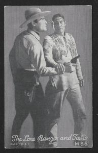 ARCADE CARD Cowboy Entertainers The Lone Ranger & Tonto