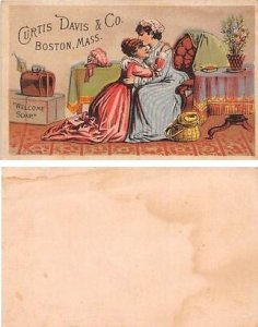 Curtis David & Co Approx Size Inches = 2.75 x 4.25 Trade Card Unused dried gl...