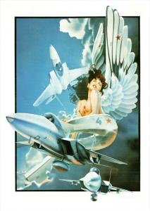 21973 Topless Nude Woman, Sci Fi, Airplanes by Philip Castle