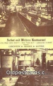 Artist & Writers 213 West 40th Street Restaurant, New York City, NYC Postcard...