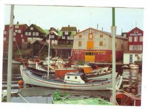 Dockside, Sailboats, Commercial and Reidencial Buildings, THORSHAVN, Faeroer ...