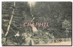 Old Postcard Surroundings of Bagneres Cascade du Tourmalet has Gripp