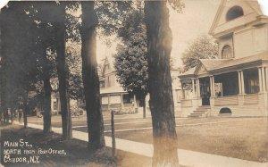 G45/ Candor New York RPPC Postcard 1911 Main Street Homes Residences