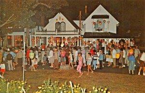 OAK BLUFFS MA~MARTHA'S VINEYARD CAMPGROUND-ILLUMINATION PARTY NIGHT POSTCARD