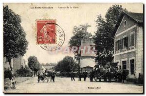Old Postcard Chateau d & # 39eau La Ferte Gaucher Avenue de la Gare Caleche