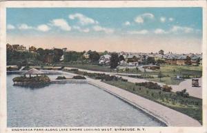 New York Syracuse Onondaga Park Along Lake Shore Looking West