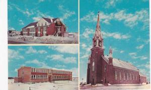 3-Views, Centenaire de St. Prime, Eglise Construite, Quebec, Canada, 40-60s