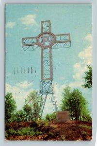 Sherbrooke QC-Quebec Canada, Holy Year Luminous Cross, Chrome c1958 Postcard