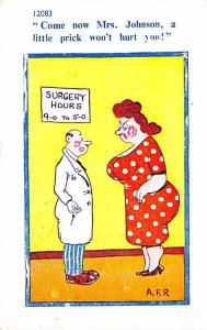 Occupation, Doctor Post Card Promiscuous Doctor With Woman Cartoon 1961