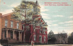 E80/ Martins Ferry Ohio Postcard Belmont Co c1910 Methodist Episcopal Church 8