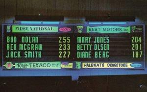 Vintage Postcard First National Rays Texaco Best Motors Halbkat Drugstore