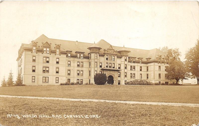 Corvallis Oregon~State University-Agricultural College~Waldo Hall~1913 RPPC
