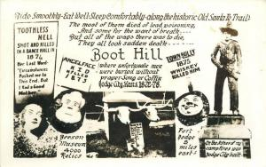 Boot Hill Santa Fe Trail Dodge City Kansas 1950s RPPC Photo Postcard 13397