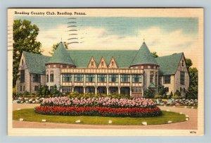 Reading PA, Reading Country Club, Linen Pennsylvania c1947 Postcard
