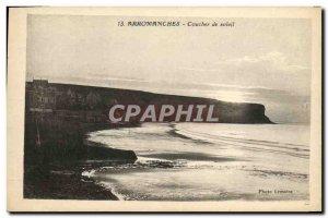 Old Postcard Arromanches Sunset