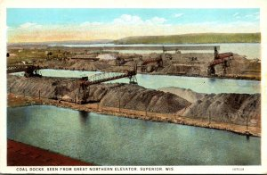 Milwaukee Superior Coal Docks Seen From Great Nothern Elevator Curteich