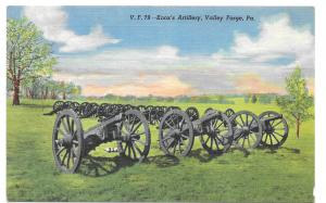 PA Valley Forge National Park Knox Artillery Cannon Vintage Military Postcard