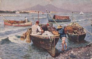 Fishermen , Napoli da Mergellina , Italy , 00-10s