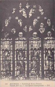 France Bourges Cathedrale Saint Etienne Les Quatre Evangelistes