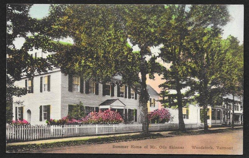 Summer Home Otis Skinner Woodstock Vermont Used c1930s