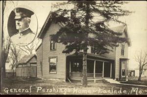 Laclede MO General Pershing Home c1920 Real Photo Postcard
