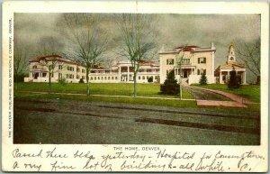 Denver, Colorado Postcard THE HOME Retirement Rest Home Building View c1900s