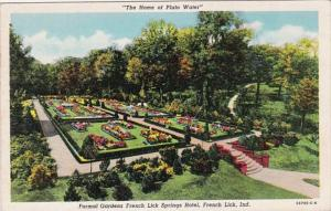 Indiana French Lick Formal Gardens French Lick Springs Hotel Curteich