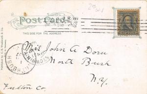 Auburn New York~Nice Corner Turret @ Post Office~1907 Postcard
