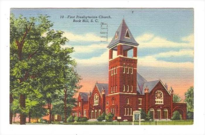 First Presbyterian Church, Rock Hill, South Carolina, PU-1952