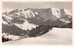 Albert Link Huette am Spitzingsee geg. Sonnwendjoch Gesamtansicht Berg