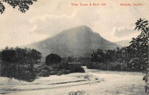 Ceylon Badulla River Scene Rock Hill Postcard