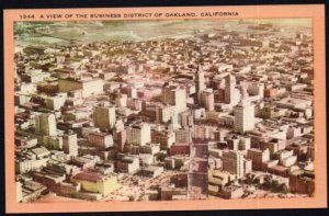 California OAKLAND View of the Business District - LINEN
