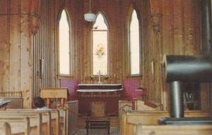 Interior,  The Barkerville Anglican Church,  B.C.,  Canada,  40-60s
