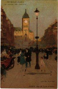 CPA PARIS Rue de Lyon et Gare (983346)