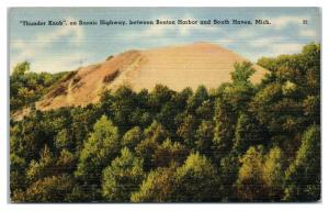 Thunder Knob on Scenic Highway between Benton Harbor & South Haven, MI Postcard