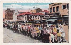 Florida Saint Petersburg The Sunshine City Oh You Green Benchers 1932
