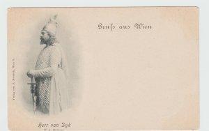 Vintage Postcard Gruss Aus Wien Austria 1897 Herr Van Dyk