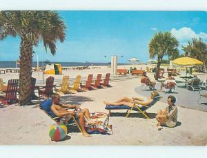 Pre-1980 BEACH SCENE Treasure Island - Near St. Petersburg & Tampa FL G6009