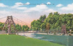 Michigan Iron Mountain Cable Bridge Twin Falls