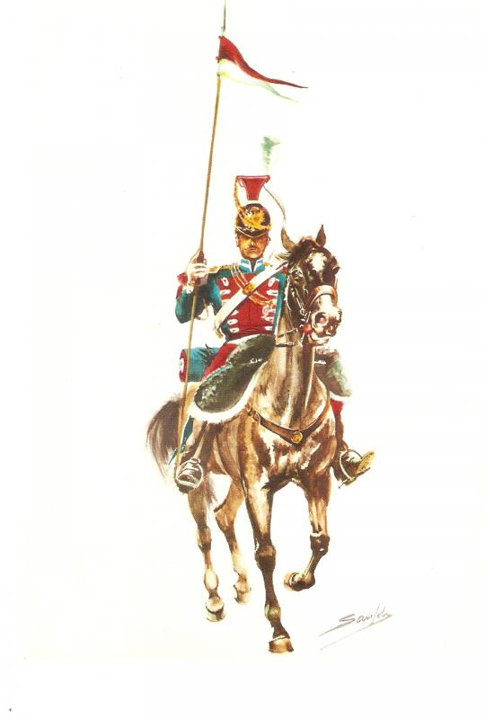 Spanish Army 1824. Lancer on horse Nice modern Spansh PC. Continental size