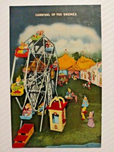 Vintage Postcard Carnival of the Gnomes Lookout Mountain Rock City Tennessee 744