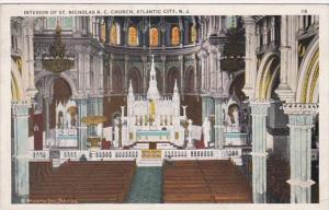 New Jersey Atlantic City Interior Of St Nicholas Roman Catholic Church