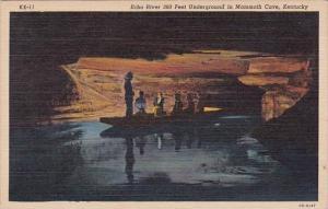 Kentucky Mammoth Cave Echo River 360 Feet Underground Curteich