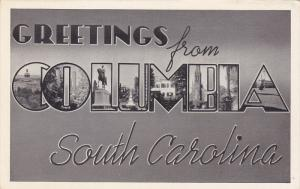 Large Letter Greetings , Columbia , South Carolina , 20-30s