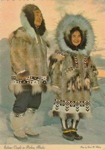 ALASKA, 1983; Eskimo Couple in Parkas