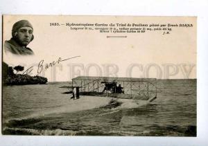 205268 FRANCE AVIATION hydroplane Curtiss Frank BARRA #1635