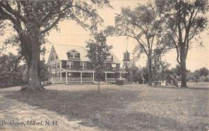 Milford New Hampshire Broadview Street View Antique Postcard K49134
