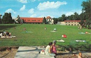 ANGOLA, Indiana IN   POTAWATOMI INN~Family Picnics  POKAGON STATE PARK  Postcard
